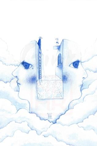 'Between us' watercolour, 2016