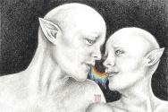 '~Kiss Kiss~' drawing, 2016